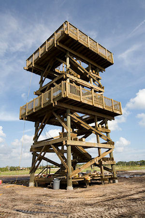 Observation tower construction by bridge builders usa inc for Building a lookout tower